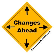 Changes ahead warning sign