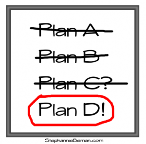 Plans, change of plans