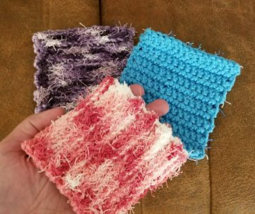 Scrubby wash cloths