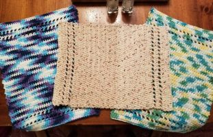 Crocheted placemats