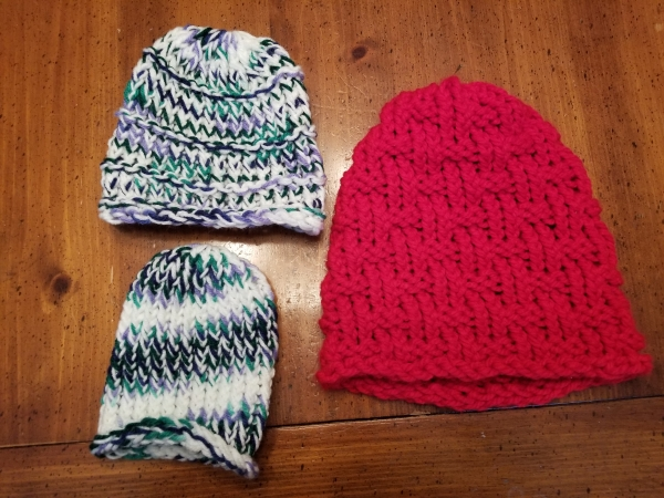 Small Child Beanie, Baby Beanie, and Adult Beanie